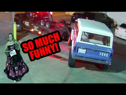 Classic Bronco gets towed, girl is not supportive