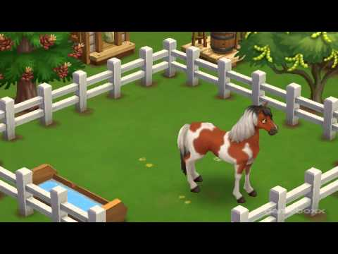 Brown Painted Mustang Horse - FarmVille 2's Wild West Theme