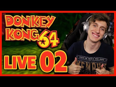 Donkey Kong 64 100% LIVE Let's Play Part 2: Frantic Factory