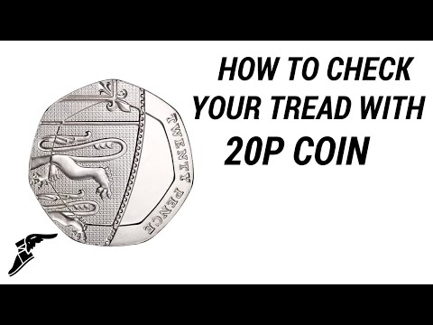 How to check your tyre tread with a 20p coin