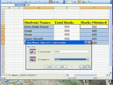 Making Chart on Microsoft Excel 2003