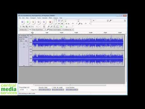 Converting MP3 With Audacity