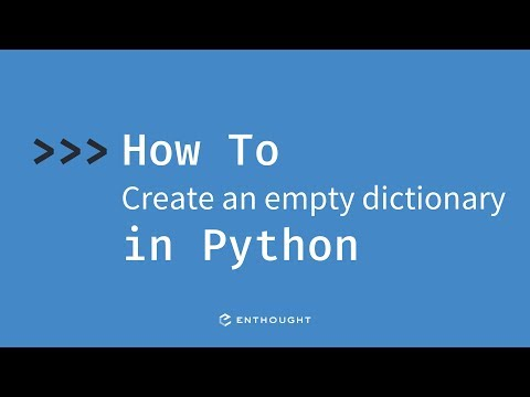 How to create an empty dictionary in Python