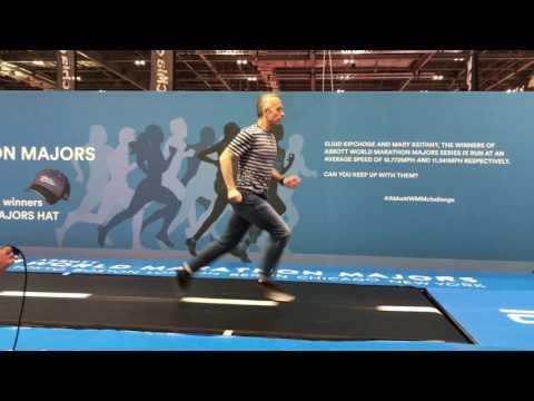 Running a 400m in 70 seconds (Eliud Kipchoge's marathon pace) @ London Marathon expo!