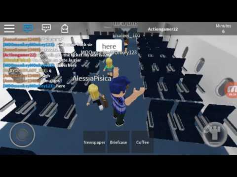ROBLOX MOBILE:Airplane simulator part 1