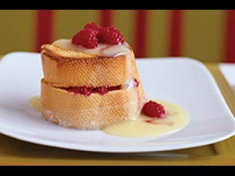 Raspberry Stuffed French Toast with Custard Sauce
