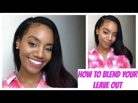 How to Blend Natural Hair with Straight Weave