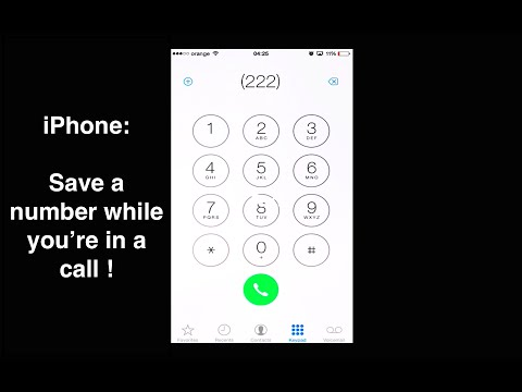 iPhone: How to add a contact during a call
