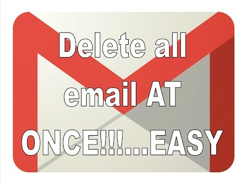 How to delete Gmail emails all at once