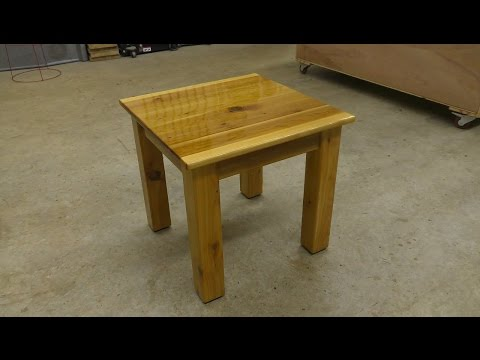 Building an Outdoor Side Table