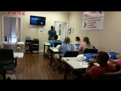 Summer Intern - Teaching first CPR / BLS class