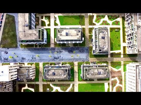 Awesome Google Earth zoom in with drone flight - Heijmans