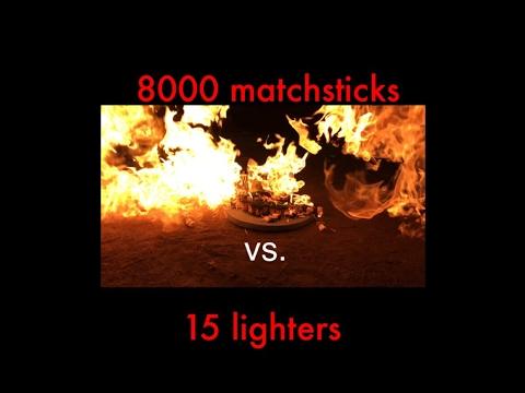 Explosive Test   8000 matchsticks vs 15 lighters   Shot Via iPhone 7