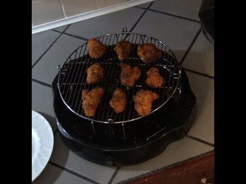 Boneless Wings: Tyson Chicken WYNGZ, from frozen in NuWave Oven