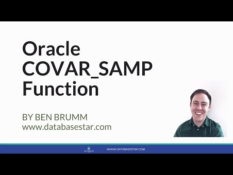 Oracle COVAR_SAMP Function