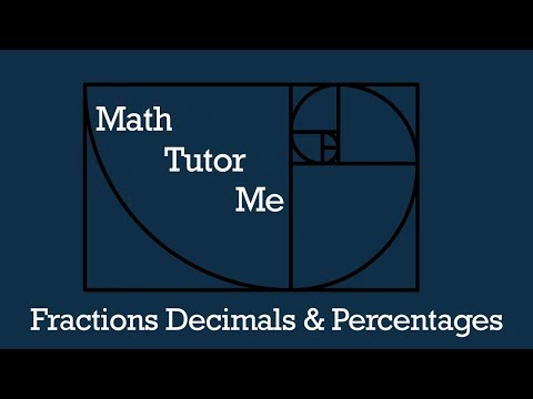 Fraction Decimals & Percentages. Converting with a calculator