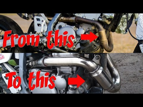 Refurbishing Stainless Steel Motorcycle Exhaust.