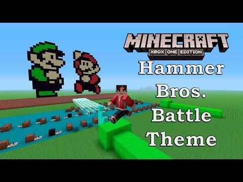 Minecraft: XBOX 360/ONE/PS3/PS4 - Super Mario Bros. 3 - Hammer Bros. Battle Theme NoteBlock SONG