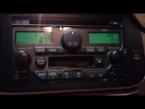 how to get Honda radio serial number code and fix error for all hunda models