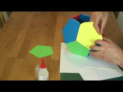 Large Paper Dodecahedron Tutorial