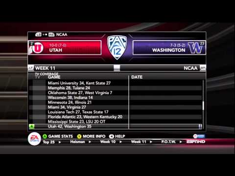 NCAA 13 College Football Week 11 Predictions