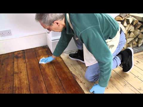 Traditional wooden floor finish