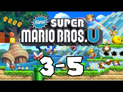 New Super Mario Bros U Part 21: World 3-5 Icicle Caverns 100%