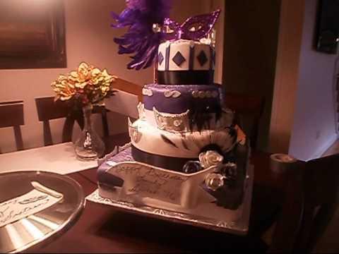 Girl's Sweet Sixteen Masquerade Cake