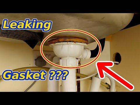 Leaking gasket, kitchen sink