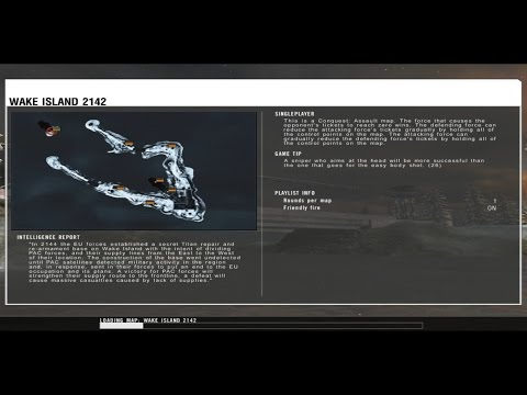 Battlefield 2142 - Wake Island loading screen [ULTRA HD]