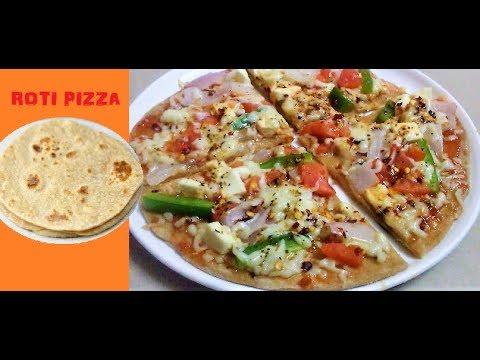 Roti Pizza On Tawa- Easy Snack For Children