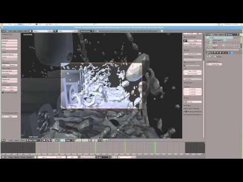 Control Blender 3d Fluid Simulation Speed Tutorial