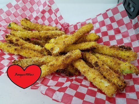 LEMON PEPPER CRISPY ZUCCHINI FRIES AIR FRYER