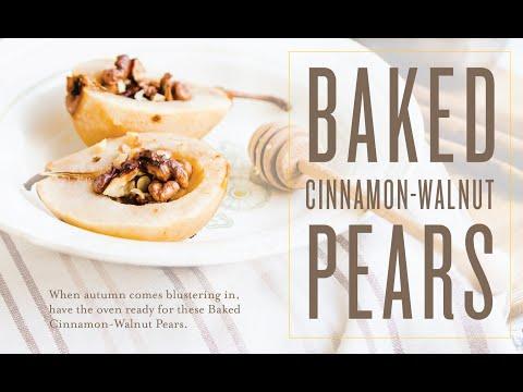 Baked Cinnamon-Walnut Pears