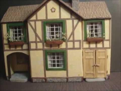 Paper model.House Tudor style.avi