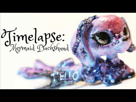 ❤ ♡LPS Custom Timelapse♡ ❤ Mermaid Inspired Custom - Handpainted by HelloStudios