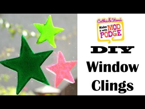 DIY Star Window Clings