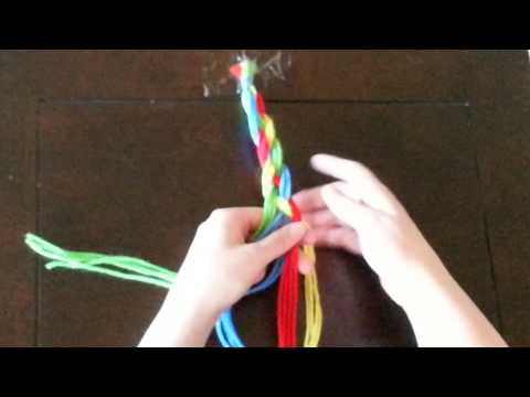 How to Complete a 4-Strand Braid (Yarn)