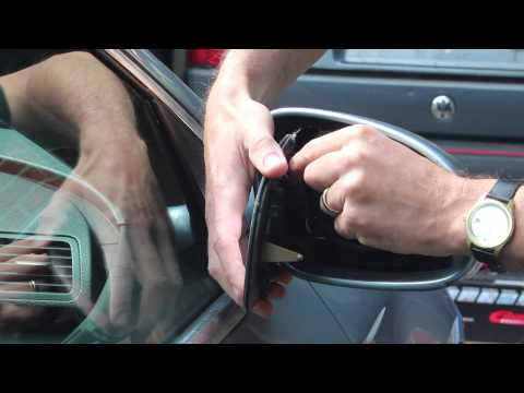VW Passat/Golf/Touran/Jetta/Bora Wing Mirror Glass replacement - changing and refitting