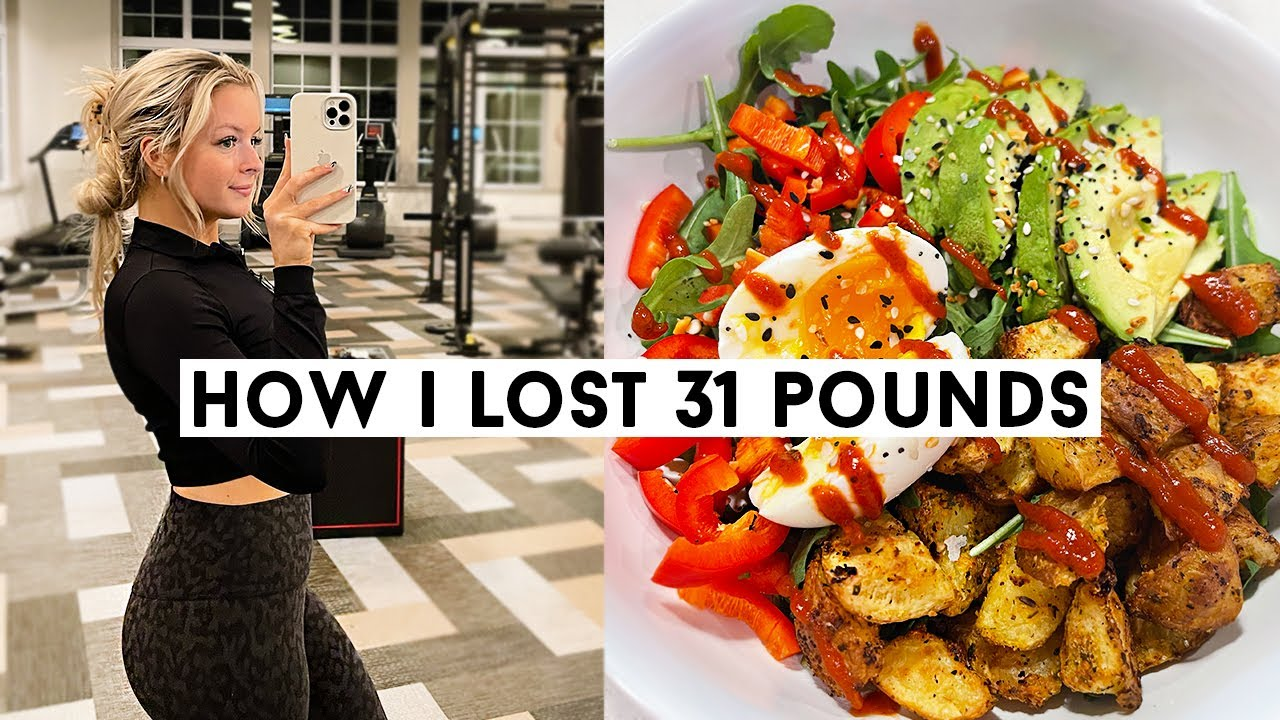 WHAT I EAT IN A DAY TO LOSE WEIGHT (how i've lost 30+ pounds in 3 months!)