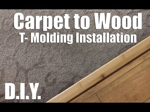 How to fix a Carpet to Wood floor Seperator - T-Mold - Flooring Separator