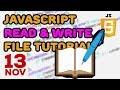 JavaScript Read and Write File