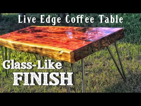 How to Make a Live Edge Table | Professional Finishing Results with Polyurethane | Diy Project