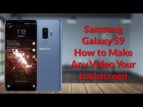Samsung Galaxy S9 How to Make Any Video Your Lockscreen - YouTube Tech Guy