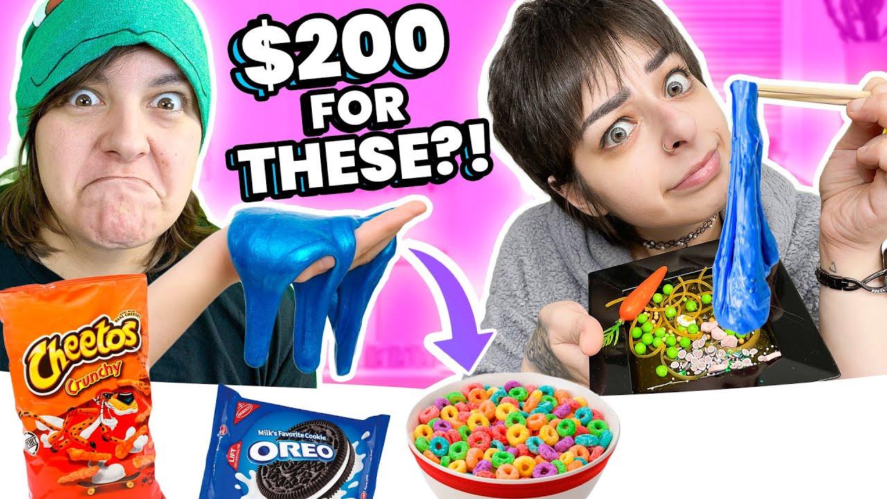 Cash OR Trash? Testing 15 WEIRD Instagram Food Slimes Craft Kits