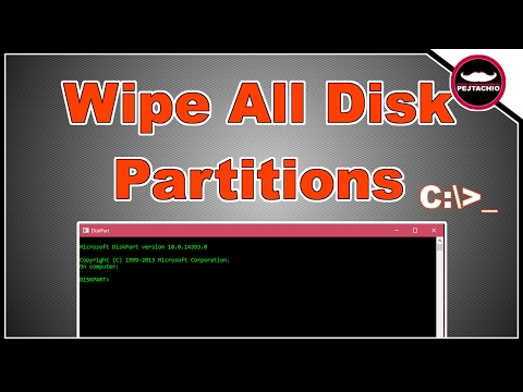 How to Delete All Partitions in Windows 10 With CMD - 2017