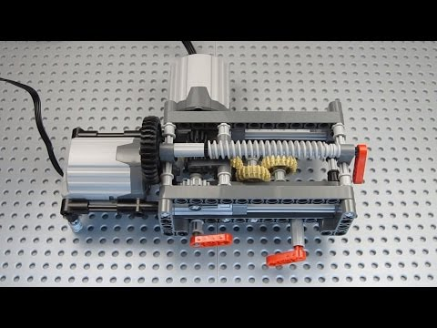 Lego 4 Speed Linear Gearbox, 2 Outputs