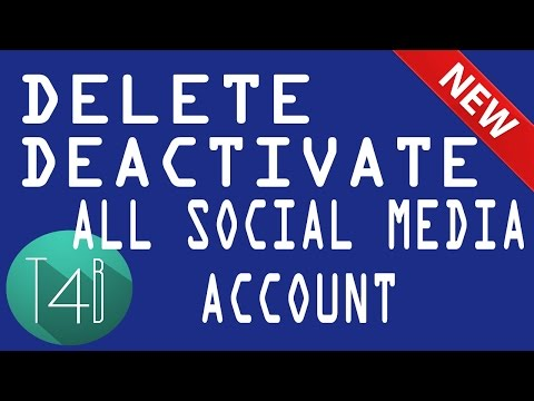 How to Delete Facebook, twitter, Google, Account permanently deactivate
