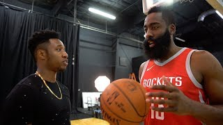 I MET JAMES HARDEN IRL!! JAMES HARDEN TAUGHT ME HOW TO DO HIS SIGNATURE EURO STEP LAYUP!