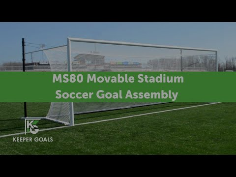 MS80 Movable Stadium Soccer Goal Assembly